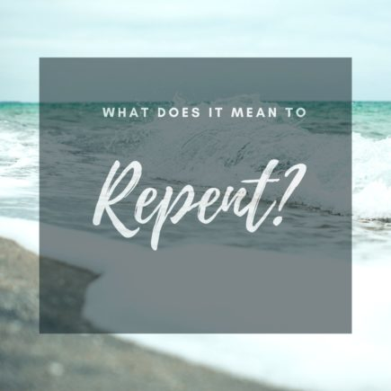 image of waves and what does it mean to repent