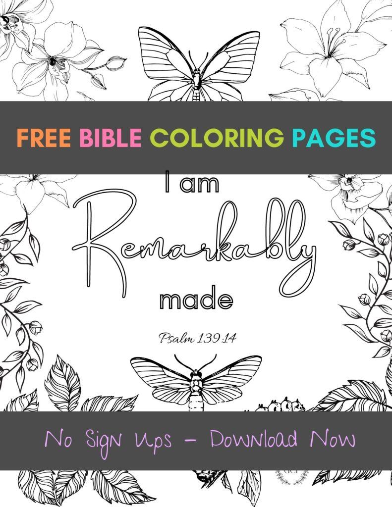 image of Free Bible Verse Coloring Pages for Adults