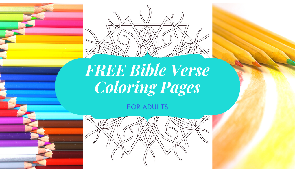 image of free bible verse coloring pages for adults and colored pencils