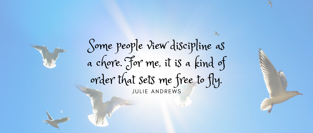 image of discipline quote from Julie Andrews
