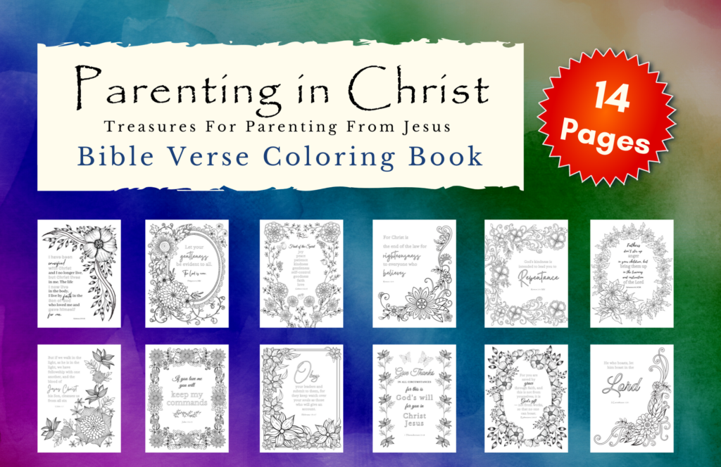 mock up of bible verse coloring book